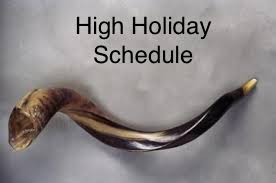 High Holiday Schedule and Activities